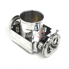 UNIVERSAL PERFORMANCE 65MM INTAKE T6 ALUMINUM THROTTLE BODY CNC W/ ADAPTOR PLATE