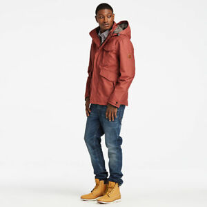 Timberland Ragged Mountain 3-In-1 Waterproof Field Jacket Mens Red A1RXK SIZE SM