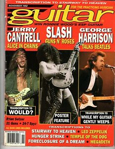 Guitar for the Practicing Musician November 1992-Slash, Jerry Cantrell, 21 Guns