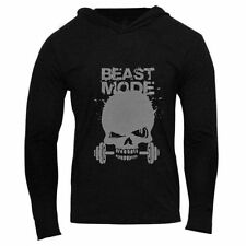 Muscle Men Beast Gym Hoodie Bodybuilding Athletic Apparel Pullover Sweats BK XXL