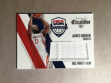 2014-15 Excalibur Panini James Harden USA Basketball Jersey Swatch
