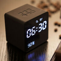 Alarm Clock Radio Bluetooth Speakers LED Digital Power Display Built-in HD Mic