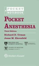Pocket Notebook: Pocket Anesthesia by Richard D. Urman, Urman and Jesse M. Ehren