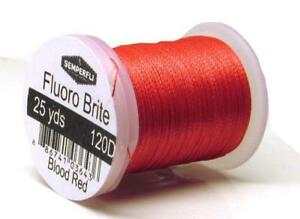 SEMPERFLI Fluoro Brite - Perfect for salmon butts  ribbing and tails L@@K