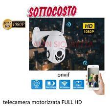 TELECAMERA PTZ ZOOM 1080P HD FULL COLOR ESTERNA IP CAMERA MOTORIZZATA IR WIFI IT