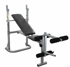 Weight Bench Adjustable Folding Training Exercise Bench Flat & Incline