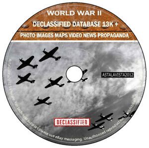 WW2 WORLD WAR II Declassified Photo Images Maps Pictures Video Database New DVD