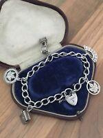Sterling Silver Charm Bracelet 25gr B'gham 1977