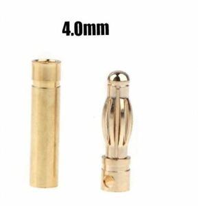20pcs (10 Pairs) Genuine 4mm Gold Bullet Connectors