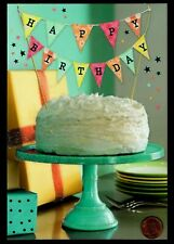 Birthday Cake Frosting Banner Presents Glittered Large Birthday Greeting Card
