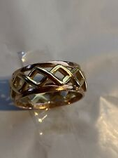 9 Ct Yellow & Rose Gold Celtic Clogau Ring Size P
