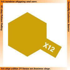 Tamiya #80012 Enamel Paint X-12 Gloss Gold Leaf (10ml)
