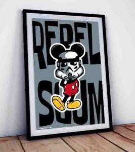 Rebel Scum Stormtrooper SIGNED by artist Cartoon Caricature Parody A4 art print