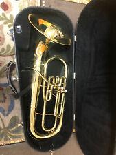 Vintage F E Olds Brass Ambassador Baritone Horn