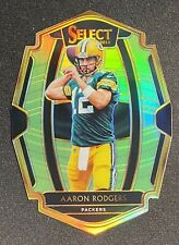 AARON RODGERS 2018 Panini Select Premier Level Neon Green Prizm Diecut /49