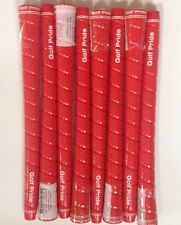 (8) NEW Golf Pride Tour Wrap 2G Standard RED 0.600 Round Golf Grip