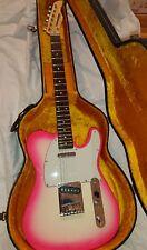 fernandes guitar telecaster rare sunburst pink model