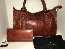 Frye Melissa Red Clay Leather Satchel Bag/purse Wallet Db146