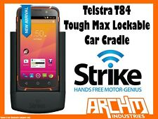 STRIKE ALPHA TELSTRA T84 TOUGH MAX LOCKABLE CAR CRADLE - BUILT-IN FAST CHARGER