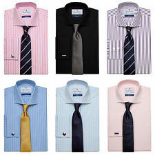 One Size: Regular Size Button Cuff Formal Shirts for Men