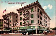 Hotel Montgomery, San Jose CA Corner 1st & San Antonio St Vintage Postcard N24