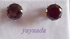 Beautiful High Quality Red Zircon silver Plated Stud Earrings