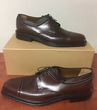 a.testoni Brown Leather Oxford Dress Shoes - Men's Size 10.5 US