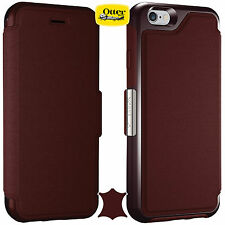 Genuine Otterbox Strada Crafted Flip Case With Card Holder iPhone 6/6S 77-51686