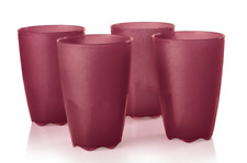 Tupperware Open House Tumblers Set of four Large 18-oz Deep Red Starlight NEW