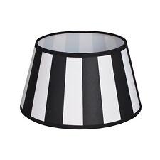 Lampenschirm schwarz weiß Vintage Landhaus E27 D(unten):25 D(oben):18 H:14cm