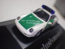 Herpa Exclusiv Serie (Germany) White/Green Porsche 911 Carrera Cpe Polizei 1:87