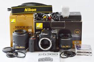 [Mint in Box] Nikon D5300 Double Zoom Kit2 DSLR 24.2 MP 2 Lenses from Japan N504