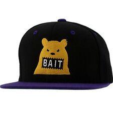 Bait Bear Snapback Cap (black / purple / yellow)