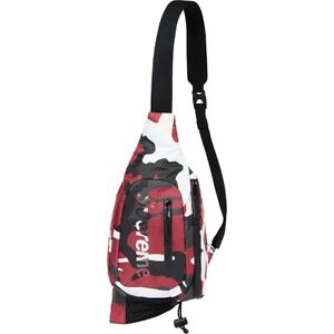 SUPREME SLING BAG/ RED CAMO OS (SS21) (IN HAND) BRAND NEW SEALED AUTHENTIC