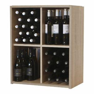 Malbec Self Assembly - 60 Bottle Melamine Wine Rack Kit - Rustic Oak Effect