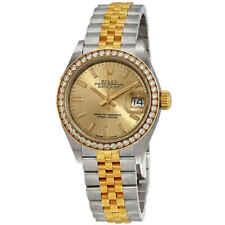 Rolex Lady Datejust Automatic Chronometer Diamond Champagne Dial Ladies Watch