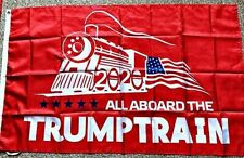 New listing Lot of 25 - 2020 Red All Aboard The Trump Train Flag 2020 Maga Flag Banner