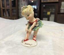 "Vintage Rare Geo. Lefton #102 ""Little Miss Mistletoe"" 4� High Ballerina Figure"