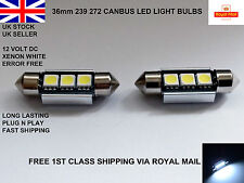 2 X 36 mm festoon 3 LED SMD Número De Matrícula Bombillas Lámparas Canbus Error Free 12 V