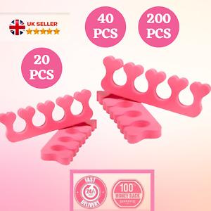 Toe Separators Finger Foam Spacers Pink Nails Polish Pedicure Manicure Art UK Pc
