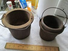 3Cast Iron Glue Pots - Good Condition - Unmarked