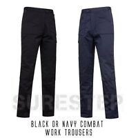 Black or Navy Action Combat Cargo Work Trouser Pants |S-7XL|