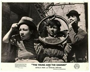 the Young and the Damned Original Lobby Card Alfonso Mejia Street Urchins 1950
