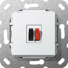GIRA Lautsprecher Anschluss 1fach Einsatz Reinweiß
