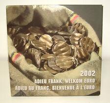 Belgium 2002 - Official (BU) Euro Coin Set - Farewell Franc - Welcome Euro