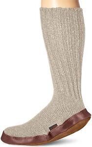Acorn Unisex 185206 Slipper Sock Light Grey Ragg Wool Size X-Small (6 1/2-7 1/2)