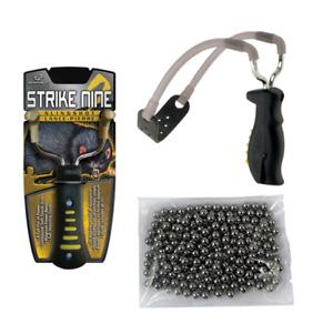 """Barnett Strike 9 Nine Catapult / Slingshot + 100 x 1/4"""" 6mm Steel BB's"""