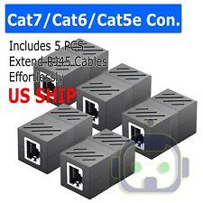 5Pcs Cat5e RJ45 Coupler Plug Network LAN Cable Joiner Extender Connector Adapter