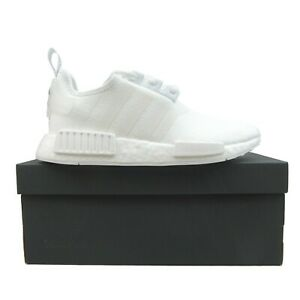 Adidas NMD R1 Womens Running Shoes Cloud White Silver NEW H01903 Multi Size