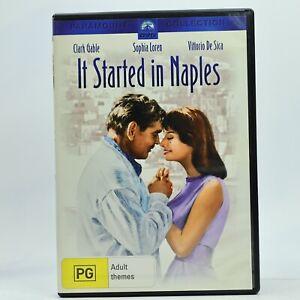 It Started In Naples Clark Gable Sophia Loren DVD 1960 GC Free Tracked Post
